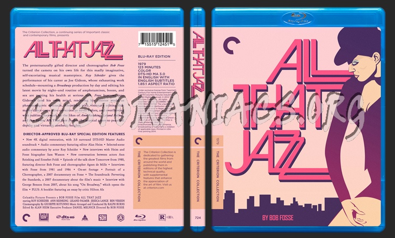 724 - All That Jazz blu-ray cover