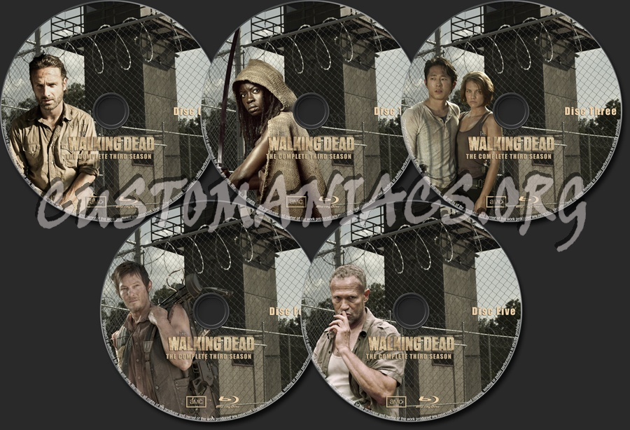 The Walking Dead Season Three blu-ray label