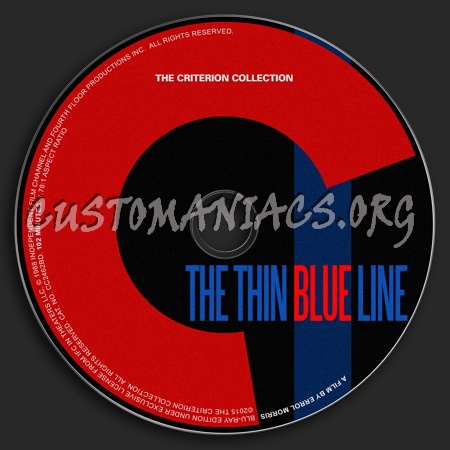 753 - The Thin Blue Line dvd label