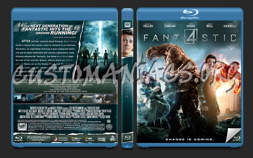 Fantastic Four blu-ray cover