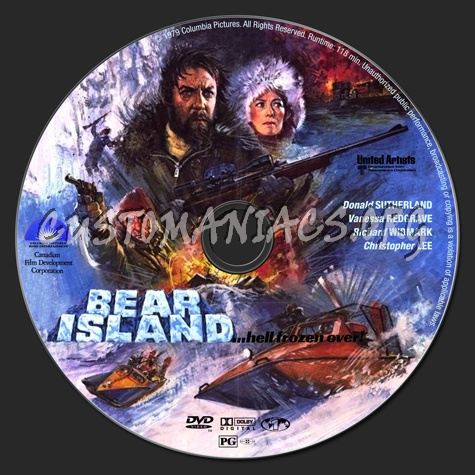 Bear Island dvd label