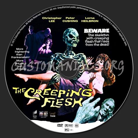 The Creeping Flesh dvd label