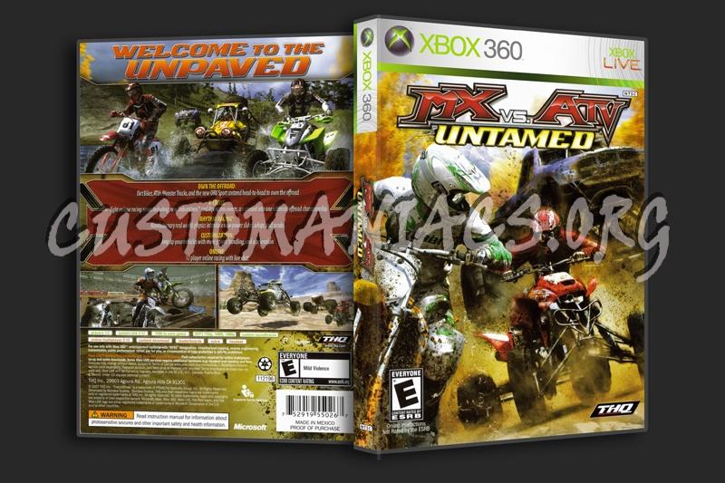 MX vs ATV Untamed dvd cover