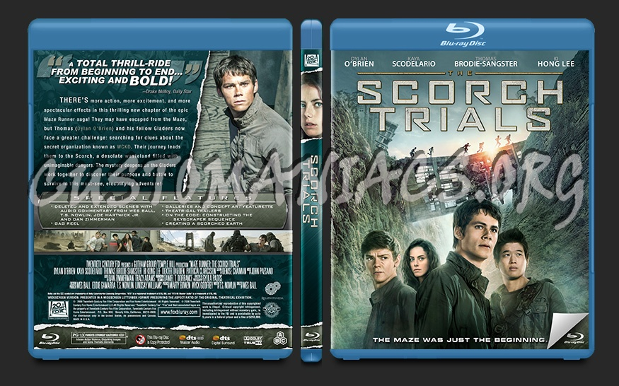 The Scorch Trials blu-ray cover