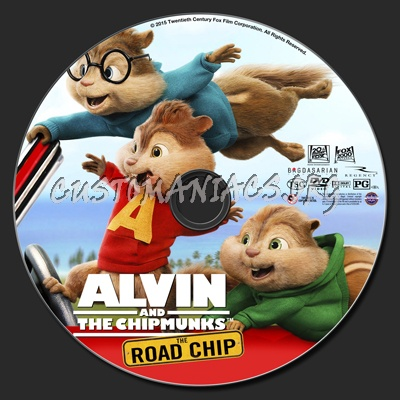 Alvin And The Chipmunks The Road Chip dvd label