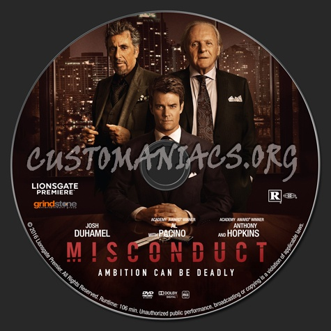 Misconduct dvd label