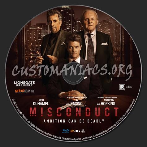Misconduct blu-ray label