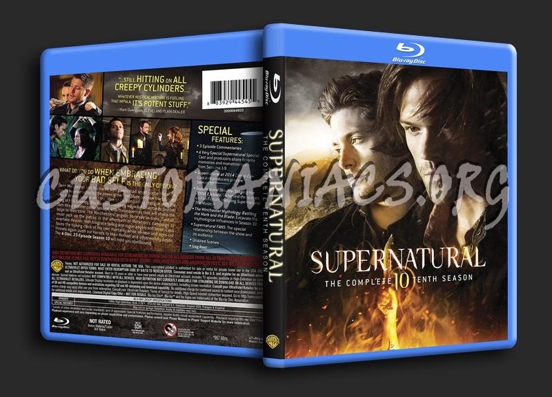 Supernatural Season 10 blu-ray cover