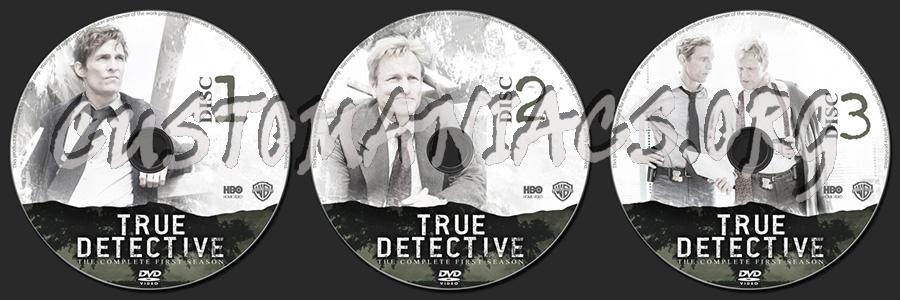 True Detective Season 1 dvd label