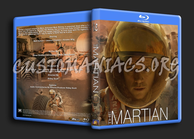 The Martian blu-ray cover