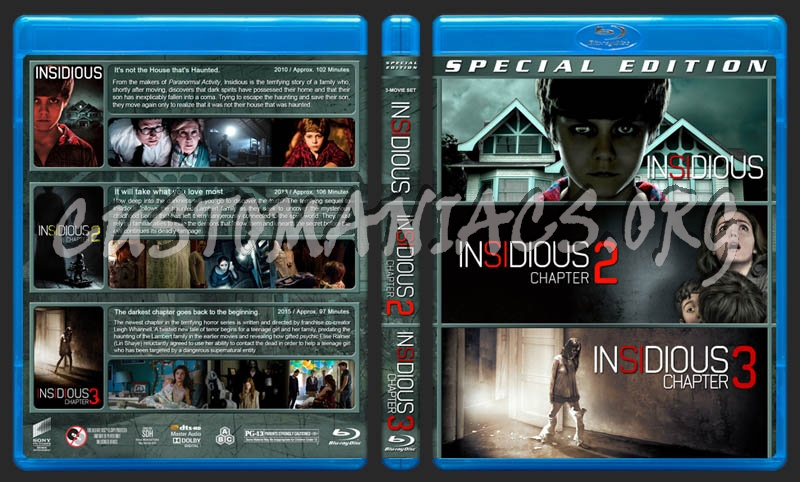 Insidious Triple Feature blu-ray cover