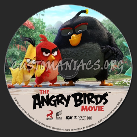 The Angry Birds Movie dvd label