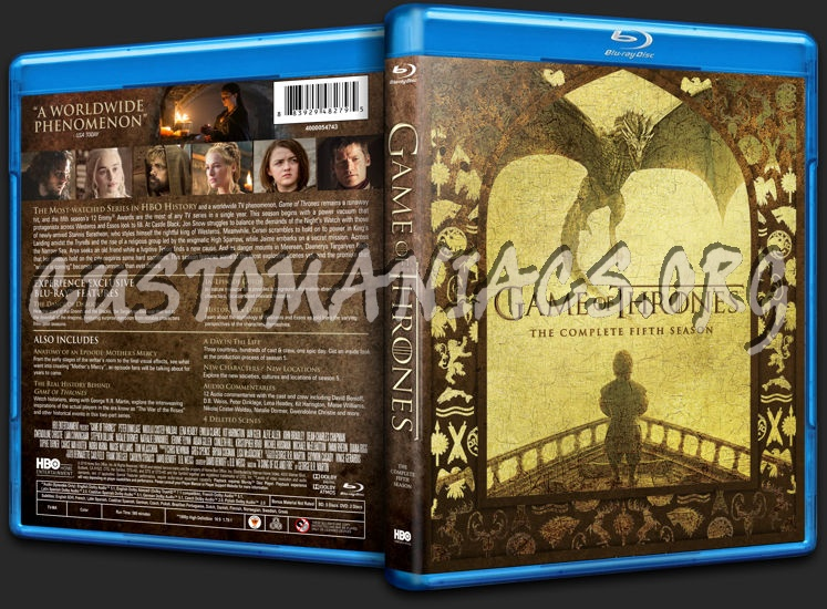 Game of Thrones Season 5 blu-ray cover