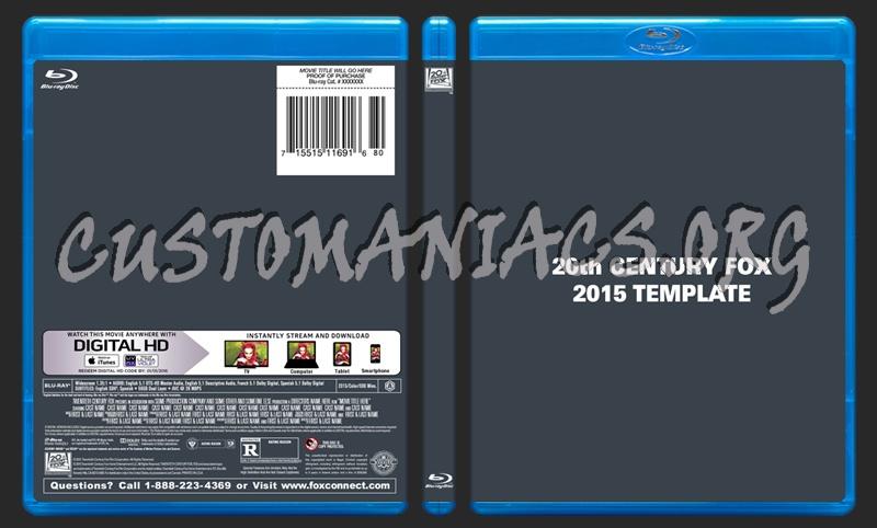 20th Century Fox 2015 Blu-ray Template dvd label