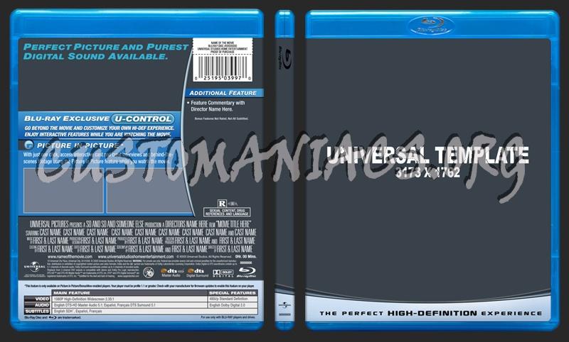 Universal v2 Blu-ray Template dvd label