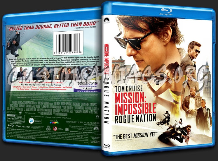 Mission: Impossible - Rogue Nation blu-ray cover