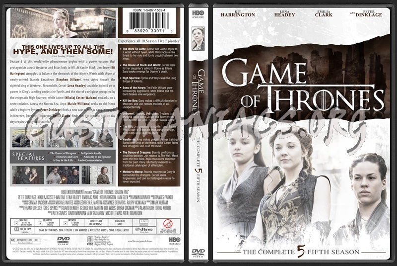 Game of Thrones Season 5 dvd cover - DVD Covers & Labels by