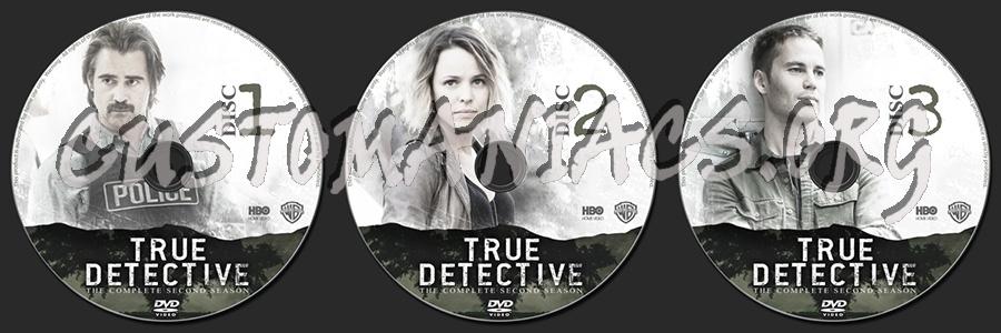 True Detective Season 2 dvd label