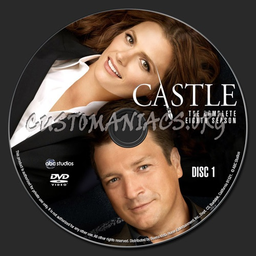 Castle Season 8 dvd label