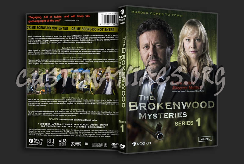 The Brokenwood Mysteries - Series 1 dvd cover