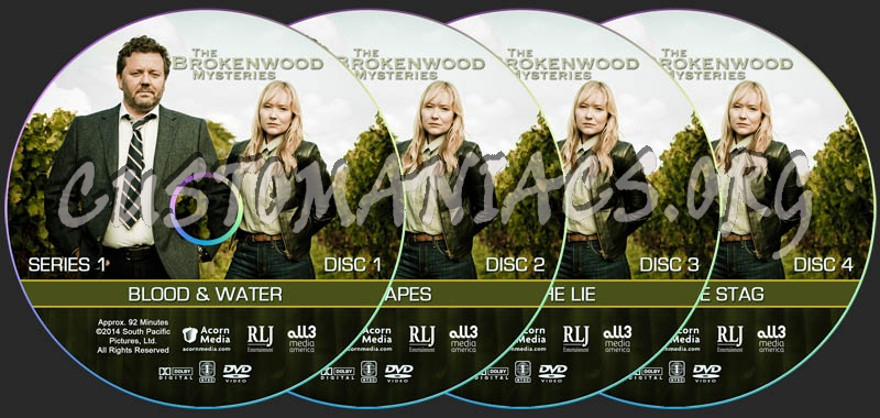 The Brokenwood Mysteries - Series 1 dvd label