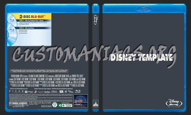 Disney Blu-ray Template dvd label