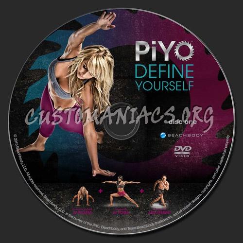 PiYo Workout dvd label