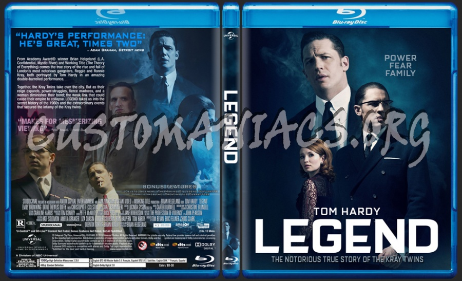 Legend (2015) blu-ray cover