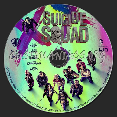 Suicide Squad blu-ray label
