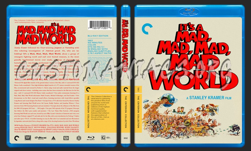 692 - It's A Mad Mad Mad Mad World blu-ray cover