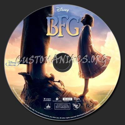 The BFG (Big Friendly Giant) 2016 blu-ray label
