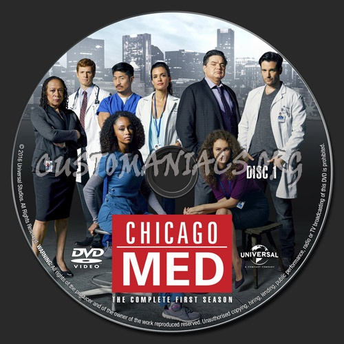 Chicago Med - Season 1 dvd label
