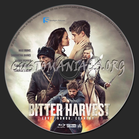 Bitter Harvest blu-ray label