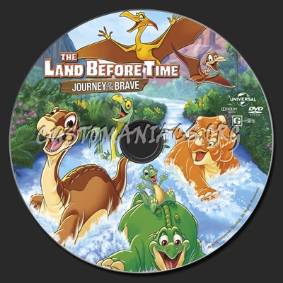 The Land Before Time XIV Journey Of The Brave dvd label