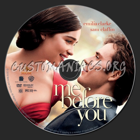 Me Before You dvd label