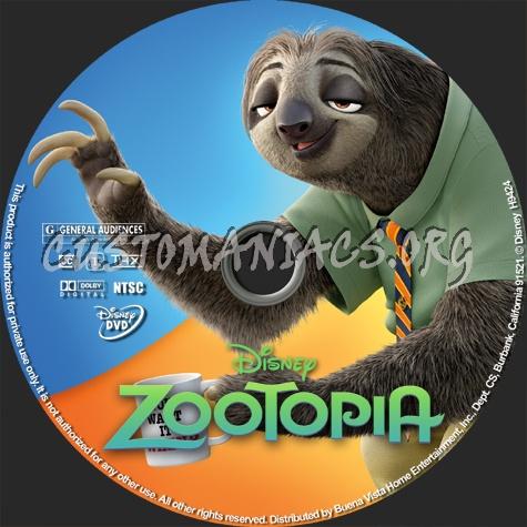 Zootopia dvd label
