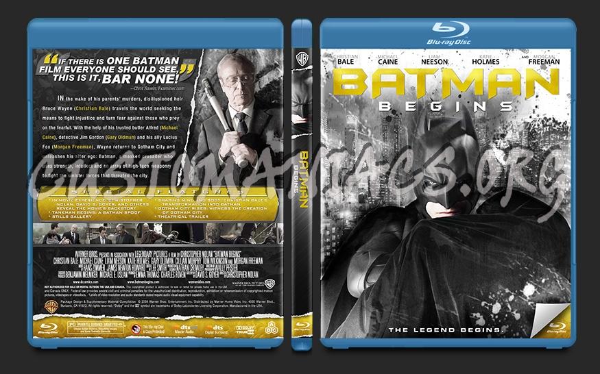 Batman Begins blu-ray cover