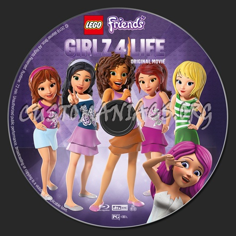 Lego Friends: Girlz For Life blu-ray label