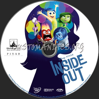 inside out 2015 dvd label dvd covers labels by. Black Bedroom Furniture Sets. Home Design Ideas