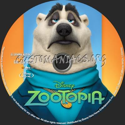 Zootopia blu-ray label