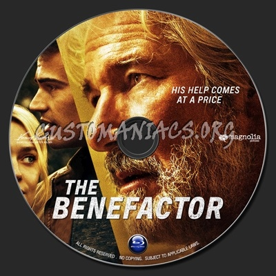 The Benefactor (2015) blu-ray label