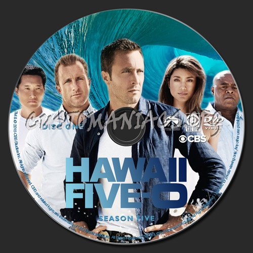 Hawaii Five-O Season 5 dvd label