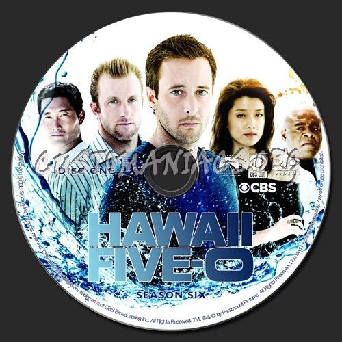 Hawaii Five-O Season 6 dvd label
