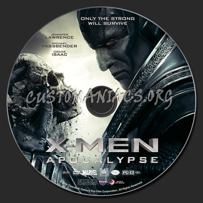 X-Men: Apocalypse dvd label