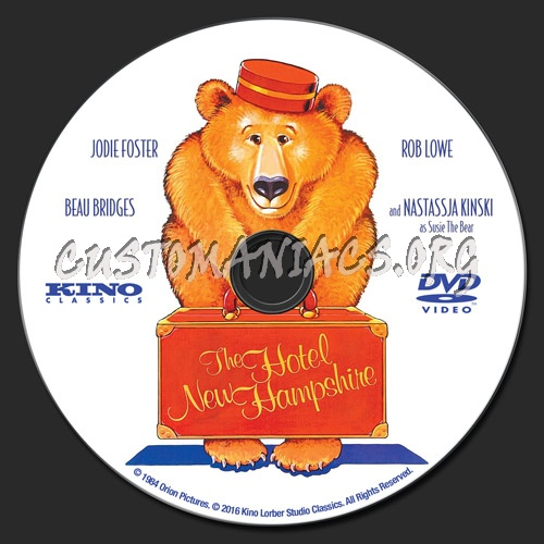 The Hotel New Hampshire dvd label