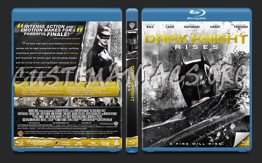 The Dark Knight Rises blu-ray cover