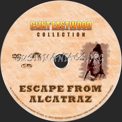 Escape From Alcatraz dvd label