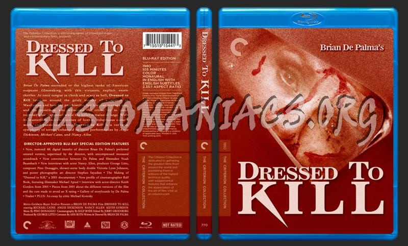 770 - Dressed To Kill blu-ray cover