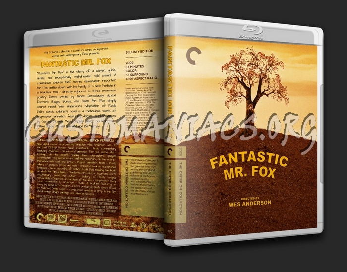 700 - Fantastic Mr. Fox blu-ray cover