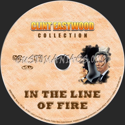 In The Line Of Fire dvd label